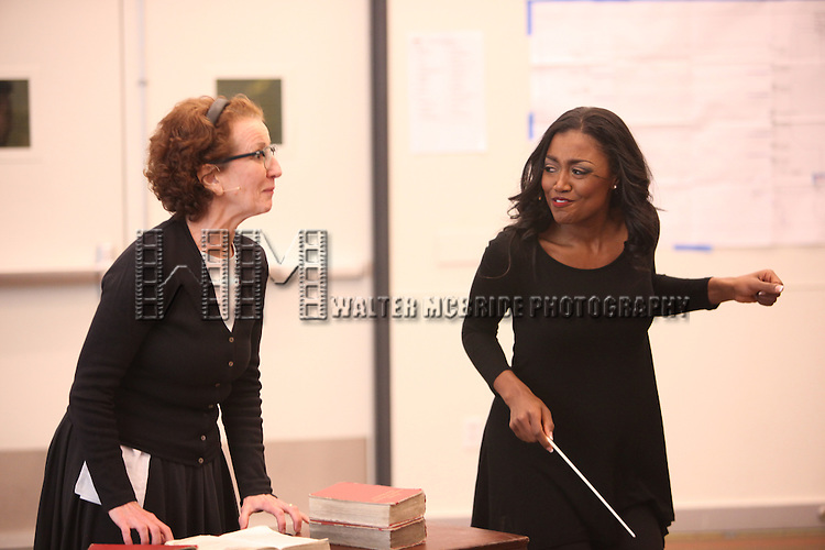 .attending the Open Press Rehearsal for the New Broadway Musical 'Sister Act' at the New 42nd Street Studios in New York City. *** Local Caption *** Performance, Rehearsal, Studio
