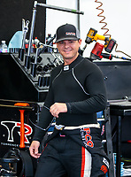 Jul 22, 2018; Morrison, CO, USA; NHRA top fuel driver Steve Torrence during the Mile High Nationals at Bandimere Speedway. Mandatory Credit: Mark J. Rebilas-USA TODAY Sports