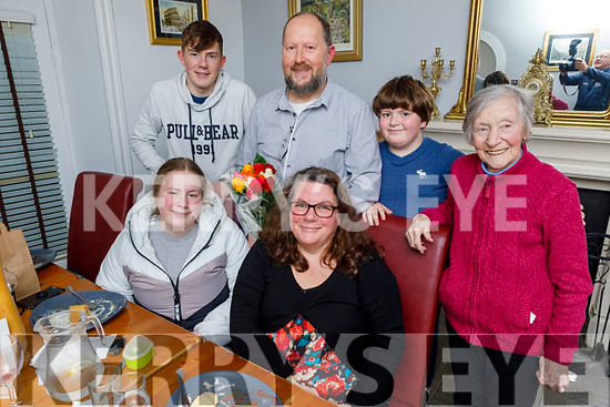 Maria O'Sullivan from Tralee celebrating her birthday in Bella Bia on Thursday.<br /> Seated l to r: Clodagh and Maria O'Sullivan.<br /> Back l to r: Rory, Mike and Cathal O'Sullivan and Colette McBride