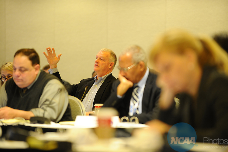 12 JAN 2012:  The NCAA Division I Leadership Council held during the 2012 NCAA Convention held at the JW Marriott and Indianapolis Convention Center in Indianapolis, IN.  Joshua Duplechian/NCAA Photos.Pictured: Jon LeCrone