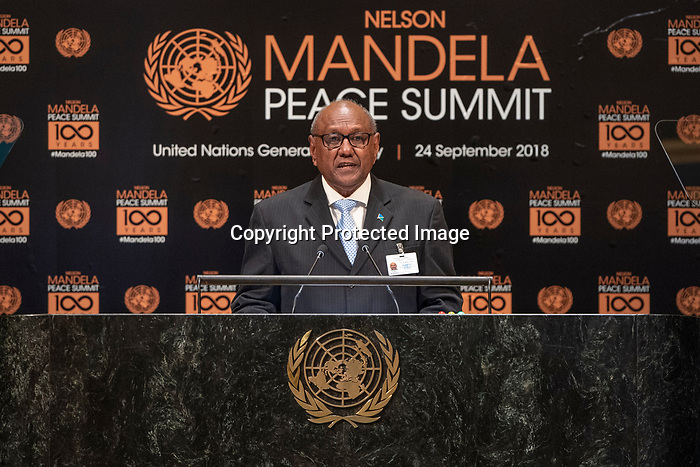 Opening Plenary Meeting of the Nelson Mandela Peace Summit<br /> <br /> Southern Islands ??