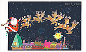 GIORDANO, CHRISTMAS SANTA, SNOWMAN, WEIHNACHTSMÄNNER, SCHNEEMÄNNER, PAPÁ NOEL, MUÑECOS DE NIEVE, paintings+++++,USGI2309,#X#
