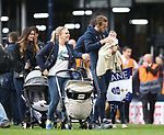 Tottenham's Harry Kane and his daughter Ivy during the Premier League match at White Hart Lane Stadium, London. Picture date: May 14th, 2017. Pic credit should read: David Klein/Sportimage