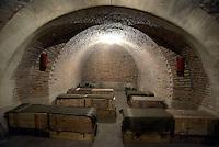 Roma, 24 Marzo 2016.<br /> Apre al pubblico il bunker dei Savoia.<br /> Il rifugio antiaereo dei Savoia fu costruito nel parco di Villa Ada nel 1940-42. Di forma circolare e a circa 200 m. di profondità, era accessibile alle auto e dotato di un efficace sistema di impianto di aerazione e filtraggio, azionabile anche in assenza di energia elettrica.<br /> <br /> Rome, March 24, 2016 .<br /> Opening to the public the Savoy bunker.<br /> The air-raid shelter of the Savoy was built in the park of Villa Ada in 1940-42 . Circular in shape and about 200 m . depth , was accessible to cars and equipped with an effective ventilation system and filtering system , also operable in the absence of electricity .