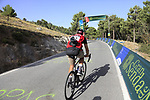 Photographer and blogger Beardy McBeard climbs Stage 4 of the La Vuelta 2018, running 162km from Velez-Malaga to Alfacar, Sierra de la Alfaguara, Andalucia, Spain. 28th August 2018.<br /> Picture: Eoin Clarke   Cyclefile<br /> <br /> <br /> All photos usage must carry mandatory copyright credit (&copy; Cyclefile   Eoin Clarke)