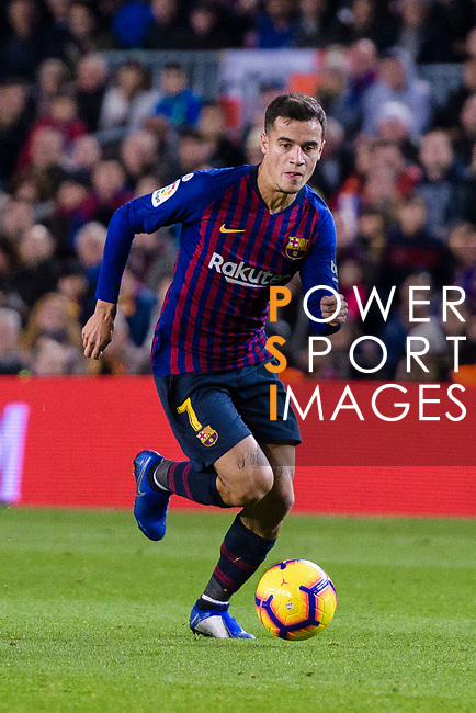 Philippe Coutinho of FC Barcelona in action during the La Liga 2018-19 match between FC Barcelona and Villarreal at Camp Nou on 02 December 2018 in Barcelona, Spain. Photo by Vicens Gimenez / Power Sport Images