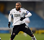 Leon Clarke of Sheffield United during the championship match at The Den Stadium, Millwall. Picture date 2nd December 2017. Picture credit should read: Robin Parker/Sportimage