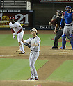Yu Darvish (Rangers), MAY 27, 2013 - MLB : Yu Darvish of Rangers looks dejected after hitting a two-run home run by Didi Gregorius in the 8th inning during the MLB game between the Arizona Diamondbacks and the Texas Rangers in Phoenix, Arizona, United States. (Photo by AFLO)
