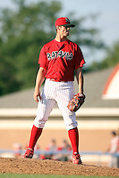 August 3rd 2008:  Pitcher Adam Reifer of the Batavia Muckdogs, Class-A affiliate of the St. Louis Cardinals, during a game at Dwyer Stadium in Batavia, NY.  Photo by:  Mike Janes/Four Seam Images