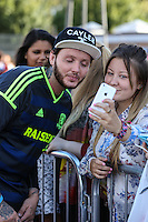 London, UK on Sunday 31st August, 2014. James Arthur during the Soccer Six charity celebrity football tournament at Mile End Stadium, London.