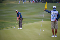 Charley Hoffman (USA) watches his putt hang left on 9 during Round 2 of the Valero Texas Open, AT&T Oaks Course, TPC San Antonio, San Antonio, Texas, USA. 4/20/2018.<br /> Picture: Golffile | Ken Murray<br /> <br /> <br /> All photo usage must carry mandatory copyright credit (© Golffile | Ken Murray)