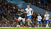 Manuel Lanzini (West Ham United) of Argentina & Marco Verratti (Paris Saint-Germain) of Italy during the International Friendly match between Argentina and Italy at the Etihad Stadium, Manchester, England on 23 March 2018. Photo by Andy Rowland.