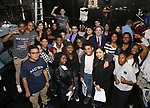 "James Basker, President of the Gilder Lehrman Institute, with Student performers attend The Rockefeller Foundation and The Gilder Lehrman Institute of American History sponsored High School student #EduHam matinee performance of ""Hamilton"" at the Richard Rodgers Theatre on 3/29/2017 in New York City."