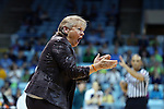 22 January 2017: UNC head coach Sylvia Hatchell. The University of North Carolina Tar Heels hosted the University of Notre Dame Fighting Irish at Carmichael Arena in Chapel Hill, North Carolina in a 2016-17 NCAA Division I Women's Basketball game. Notre Dame won the game 77-55