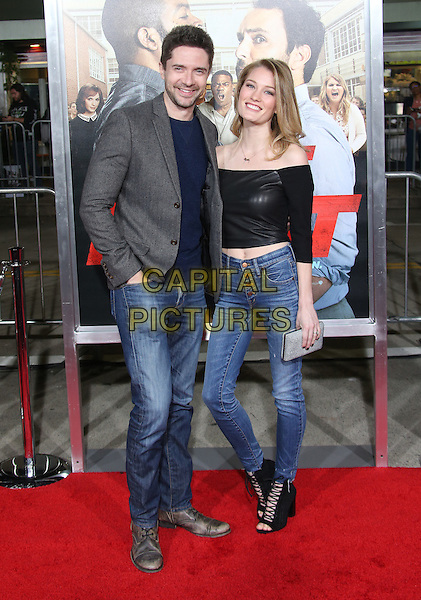 13 February 2017 - Westwood, California - Topher Grace, Ashley Hinshaw. &quot;Fist Fight&quot; Los Angeles Premiere held at Regency Village Theatre. <br /> CAP/ADM/FS<br /> &copy;FS/ADM/Capital Pictures