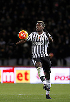 Calcio, Serie A:  Bologna vs Juventus. Bologna, stadio Renato Dall'Ara, 19 febbraio 2016. <br /> Juventus&rsquo; Paul Pogba in action during the Italian Serie A football match between Bologna and Juventus at Bologna's Renato Dall'Ara stadium, 19 February 2016.<br /> UPDATE IMAGES PRESS/Isabella Bonotto