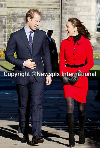 "PRINCE WILLIAM & KATE MIDDLETON_St Andrews Royal Engagement.Prince William, accompanied by Miss Catherine Middleton attended the 600 Anniversay celebrations at St Andrews University.William and Kate meet at the University whilst studing.St Andrews_Fife_Scotland_25/02/2011.Mandatory Photo Credit: ©Rolland/NEWSPIX INTERNATIONAL..**ALL FEES PAYABLE TO: ""NEWSPIX INTERNATIONAL""**..PHOTO CREDIT MANDATORY!!: Newspix International(Failure to credit will incur a surcharge of 100% of reproduction fees)..IMMEDIATE CONFIRMATION OF USAGE REQUIRED:. Newspix International, 31 Chinnery Hill, Bishop's Stortford, ENGLAND CM23 3PS.Tel:+441279 324672  ; Fax: +441279656877.Mobile:  0777568 1153.e-mail: info@newspixinternational.co.uk"