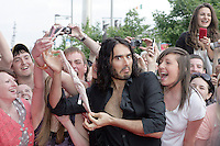22/6/2010. Get Him to the Greek Irish Premiere. Russell Brand is pictured with knickers at the Savoy Cinema Dublin for the Irish Premiere of Get Him to the Greek. Picture James Horan/Collins Photos