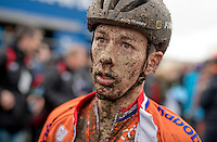 Lars van der Haar's (NED/Telenet-Fidea) post-race face<br /> <br /> Elite Men's Race<br /> UCI 2017 Cyclocross World Championships<br /> <br /> january 2017, Bieles/Luxemburg
