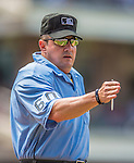 23 June 2013: MLB Home Plate Umpire Marty Foster works a game between the Los Angeles Dodgers and the San Diego Padres at Petco Park in San Diego, California. The Dodgers defeated the Padres 3-1, splitting their 4-game Divisional Series at 2-2. Mandatory Credit: Ed Wolfstein Photo *** RAW (NEF) Image File Available ***