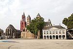 Sint Janskerk and Sint Servaasbasiliek, Vrijthof square, Maastricht, Limburg province, Netherlands