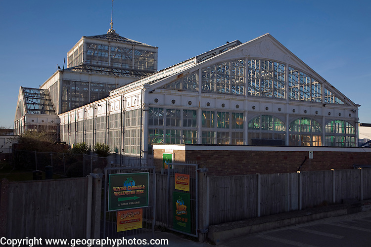 Winter Gardens glasshouse building, Great Yarmouth, Norfolk, England