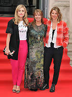 Alix Wilton Regan and Claudia Bluemhuber and Georgia A.A. Bayliff at the &quot;The Wife&quot; Film4 Summer Screen opening gala &amp; launch party, Somerset House, The Strand, London, England, UK, on Thursday 09 August 2018.<br /> CAP/CAN<br /> &copy;CAN/Capital Pictures