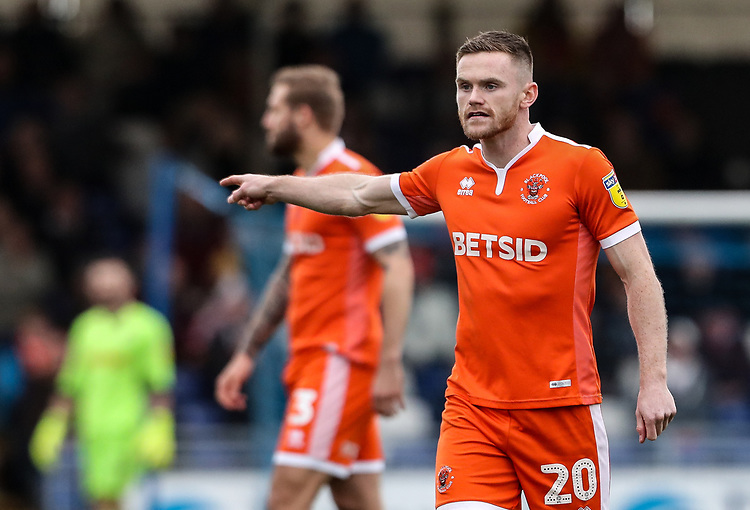 Blackpool's Oliver Turton<br /> <br /> Photographer Andrew Kearns/CameraSport<br /> <br /> The EFL Sky Bet League Two - Bristol Rovers v Blackpool - Saturday 2nd March 2019 - Memorial Stadium - Bristol<br /> <br /> World Copyright © 2019 CameraSport. All rights reserved. 43 Linden Ave. Countesthorpe. Leicester. England. LE8 5PG - Tel: +44 (0) 116 277 4147 - admin@camerasport.com - www.camerasport.com