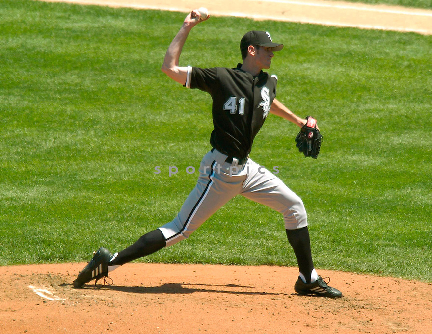 Brandon McCarthy of the Chicago White Sox in action against the Chicago Cubs.. ....White Sox lost 3-4.....David Durochik / SportPics..