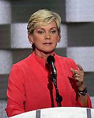 Former Governor Jennifer Granholm (Democrat of Michigan) makes remarks during the fourth session of the 2016 Democratic National Convention at the Wells Fargo Center in Philadelphia, Pennsylvania on Thursday, July 28, 2016.<br /> Credit: Ron Sachs / CNP<br /> (RESTRICTION: NO New York or New Jersey Newspapers or newspapers within a 75 mile radius of New York City)