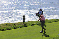 Matthew Cain tees off the 8th tee at Pebble Beach Golf Links during Saturday's Round 3 of the 2017 AT&amp;T Pebble Beach Pro-Am held over 3 courses, Pebble Beach, Spyglass Hill and Monterey Penninsula Country Club, Monterey, California, USA. 11th February 2017.<br /> Picture: Eoin Clarke | Golffile<br /> <br /> <br /> All photos usage must carry mandatory copyright credit (&copy; Golffile | Eoin Clarke)