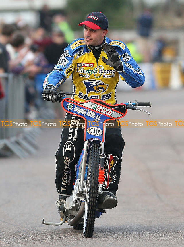 Lukas Dryml of Eastbourne Eagles - Lakeside Hammers vs Eastbourne Eagles, Elite League Speedway at the Arena Essex Raceway, Purfleet - 25/06/10 - MANDATORY CREDIT: Rob Newell/TGSPHOTO - Self billing applies where appropriate - 0845 094 6026 - contact@tgsphoto.co.uk - NO UNPAID USE.