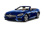 2017 Mercedes Benz SL-Class SL450 2 Door Convertible Angular Front stock photos of front three quarter view