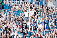 January 01, 2012:  Jacksonville Jaguars fans perform a wave during second half action between the Jacksonville Jaguars and the Indianapolis Colts played at EverBank Field in Jacksonville, Florida.  Jacksonville defeated Indianapolis 19-13........