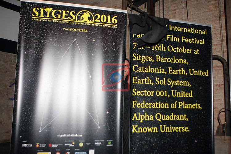 49 Festival Internacional de Cinema Fantastic de Catalunya-Sitges 2016.<br /> Presentacion Cartel 2016.