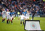 07.04.2018 Rangers v Dundee:<br /> Half time Rangers academy girls v boys match