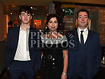 Wayne Crawley, Michelle Kieran and Jay Crawley at St Mary's GFC awards dinner in Muldoons. Photo:Colin Bell/pressphotos.ie