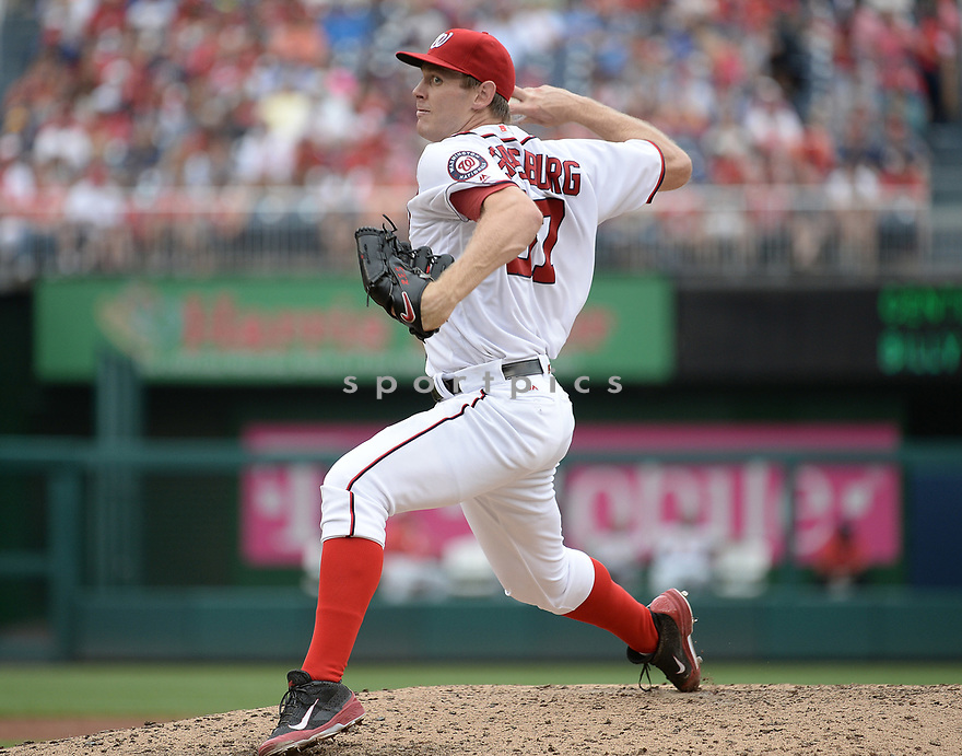 Washington Nationals Stephen Strasburg (37) during a game against the Cincinnati Reds on July 3, 2016 at Nationals Park in Washington DC. The Nationals beat the Reds 12-1.