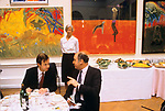 The Royal Academy Summer Exhibition  London UK.  1980s. Private View lunch. 1980s.