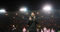 Lincoln City manager Danny Cowley applauds the fans prior to the game<br /> <br /> Photographer Chris Vaughan/CameraSport<br /> <br /> The EFL Sky Bet League Two - Lincoln City v Yeovil Town - Friday 8th March 2019 - Sincil Bank - Lincoln<br /> <br /> World Copyright © 2019 CameraSport. All rights reserved. 43 Linden Ave. Countesthorpe. Leicester. England. LE8 5PG - Tel: +44 (0) 116 277 4147 - admin@camerasport.com - www.camerasport.com