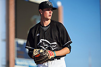Quad Cities River Bandits starting pitcher Forrest Whitley (26) warms up in the bullpen before a game against the Lake County Captains on May 6, 2017 at Modern Woodmen Park in Davenport, Iowa.  Lake County defeated Quad Cities 13-3.  (Mike Janes/Four Seam Images)