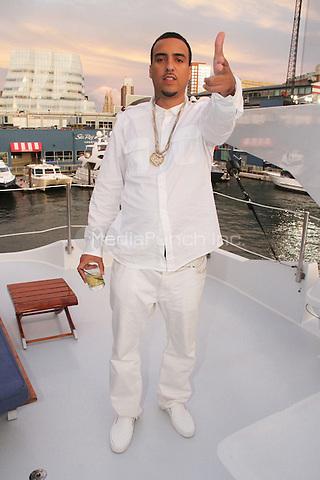 "NEW YORK, NY - SEPTEMBER 8: French Montana on the set of Fat Joe & Jennifer Lopez video shoot for ""Stressin"" September 8, 2014 in New York City. Credit: Walik Goshorn/MediaPunch"