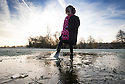24/11/14<br /> <br /> Freya Kirkpatrick, 6, plays with ice in the park in Ashbourne, Derbyshire, after temperatures plummet below freezing over-night.<br /> <br /> <br /> ***ANY UK EDITORIAL PRINT USE WILL ATTRACT A MINIMUM FEE OF £130. THIS IS STRICTLY A MINIMUM. USUAL SPACE-RATES WILL APPLY TO IMAGES THAT WOULD NORMALLY ATTRACT A HIGHER FEE .  PRICE FOR WEB USE WILL BE NEGOTIATED SEPARATELY***<br /> <br /> <br /> All Rights Reserved - F Stop Press.  www.fstoppress.com. Tel: +44 (0)1335 300098