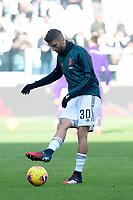 2nd February 2020; Allianz Stadium, Turin, Italy; Serie A Football, Juventus versus Fiorentina; Rodrigo Bentancur of Juventus during the warm-up