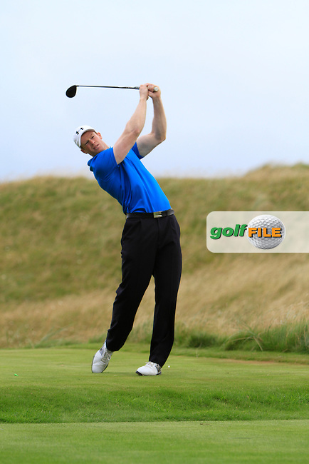 Paul peavey (Warrenpoint) on the 14th tee during the South of Ireland Amateur Open Championship Third Round at Lahinch Golf Club  29th July 2013 <br /> Picture:  Thos Caffrey / www.golffile.ie