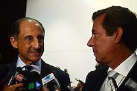 SAO PAULO, SP, 13 DE FEVEREIRO DE 2012 - SKAF EMBAIXADOR DA ARGENTINA - O presidente da Fiesp, Paulo Skaf, se reuniur, na manhã desta segunda-feira, com o embaixador da Argentina no Brasil, Luis Maria Kreckler, na sede da Fiesp, na Avenida Paulista.  (FOTO: ALEXANDRE MOREIRA - NEWS FREE).