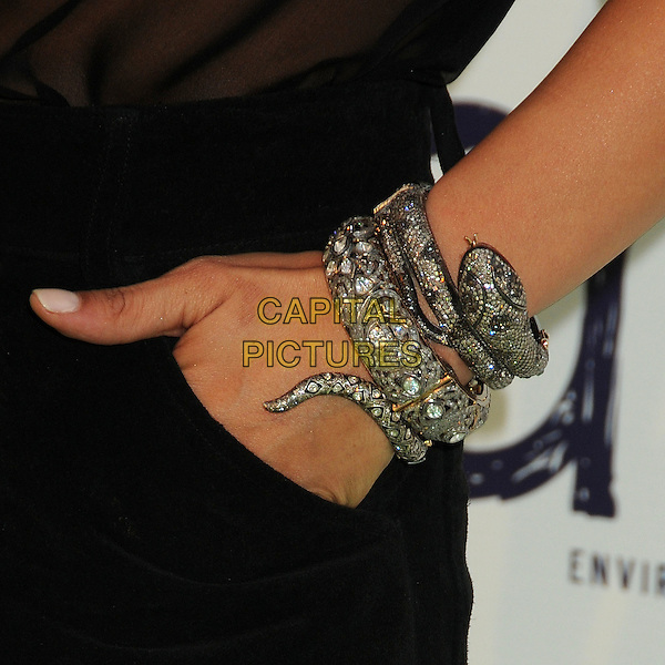 Emmanuelle Chriqui's hand .2011 Environmental Media Awards held at Warner Bros. Studios, Burbank, California, USA, 15th October 2011 .hand snake wrist diamante bracelet cuff  .CAP/ADM/BP.©Byron Purvis/AdMedia/Capital Pictures.