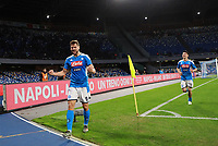 1st December 2019; Stadio San Paolo, Naples, Campania, Italy; Serie A Football, Napoli versus Bologna; Fernando Llorente celebrates scoring his goal in the 41st minute for 1-0 - Editorial Use