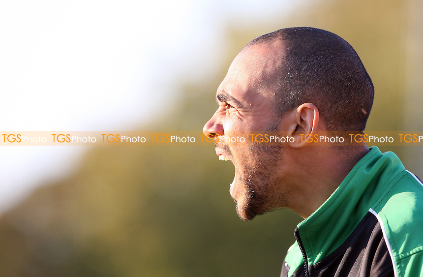 Bethnal Green manager Justin Gardner - Bethnal Green United vs Hoddesdon Town, FA Vase at Mile End Stadium - 22/10/11 - MANDATORY CREDIT: Rob Newell/TGSPHOTO - Self billing applies where appropriate - 0845 094 6026 - contact@tgsphoto.co.uk - NO UNPAID USE.