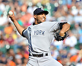 Baltimore, MD - May 10, 2009 -- New York Yankees closer Mariano Rivera (42) works in the 9th inning against the Baltimore Orioles at Oriole Park at Camden Yards in Baltimore, MD on Sunday, May 10, 2009.  The Yankees won the game 5 - 3..Credit: Ron Sachs / CNP.(RESTRICTION: NO New York or New Jersey Newspapers or newspapers within a 75 mile radius of New York City)